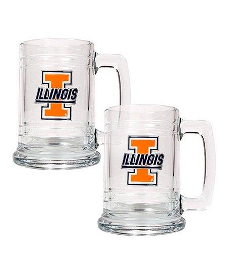 Illinois Fighting Illini Tankard - Set of Two