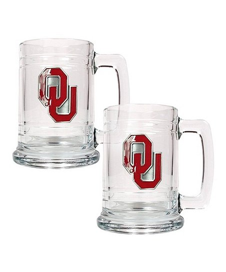 Oklahoma Sooners Tankard - Set of Two