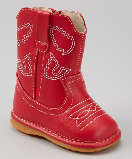 Red Western Squeaker Cowboy Boot