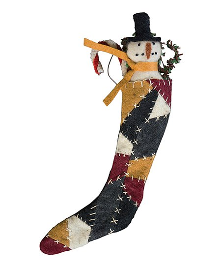 Snowman Patch Stocking