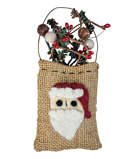 Burlap Sack Santa Ornament