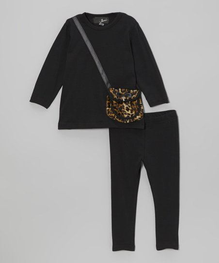 Black Purse Pocket Tunic & Leggings - Infant & Toddler