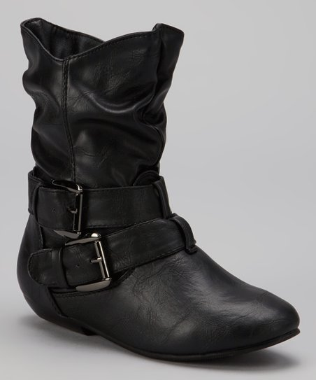Black Tamika Buckle Boot