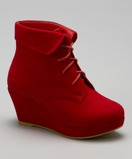 Red Max Wedge Bootie