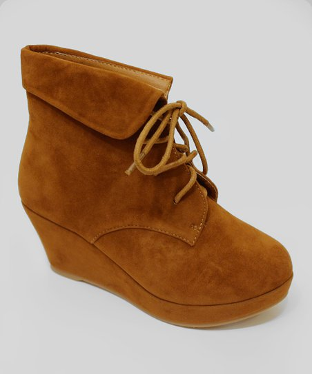 Tan Max Wedge Bootie