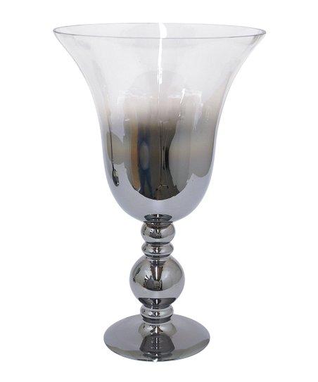 Silver Ombré Hurricane Candleholder