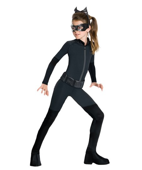 Black Catwoman Dress-Up Set - Girls