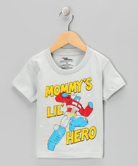 Silver Transformers Mommys Lil Hero Tee - Toddler
