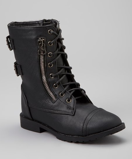 Black Best Lace-Up Boot