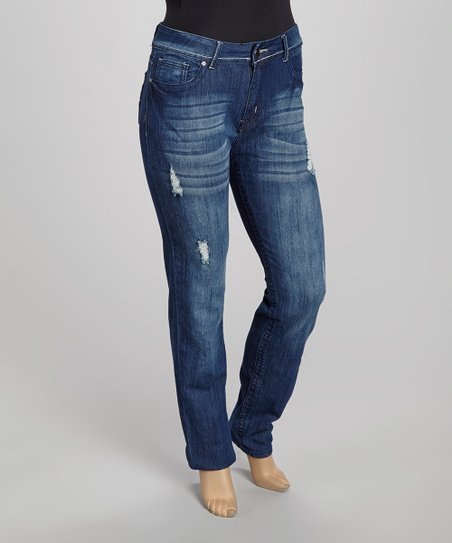 Blue Fade-Out Skinny Jeans - Plus