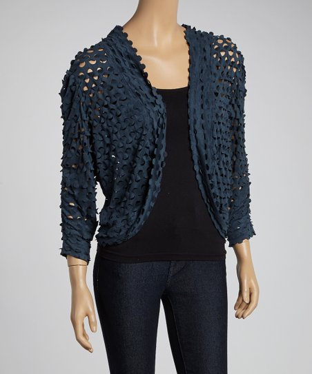 Denim Cutout Shrug