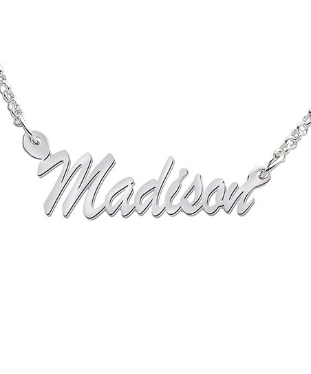 Sterling Silver Hollywood Script Personalized Pendant Necklace