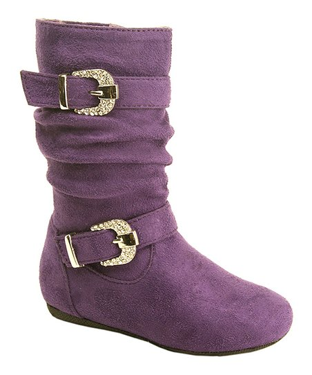 Purple Suede Katie Boot