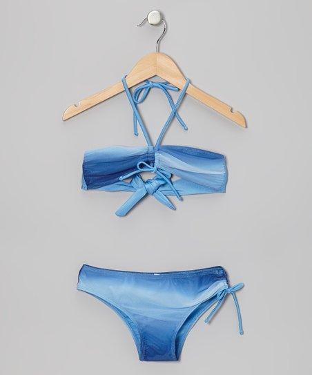 Blue Ombré Bandeau Bikini – Girls