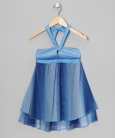 Blue Ombré Cover-Up Dress - Girls