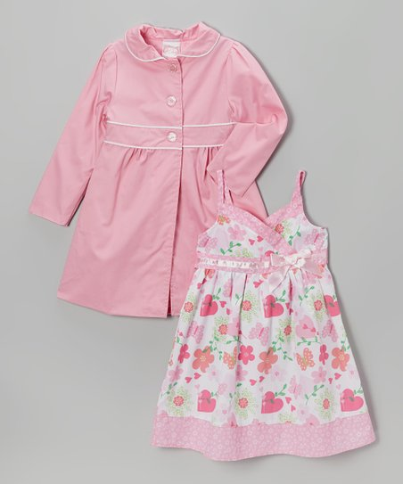Pink Floral Babydoll Dress & Jacket - Infant, Toddler & Girls