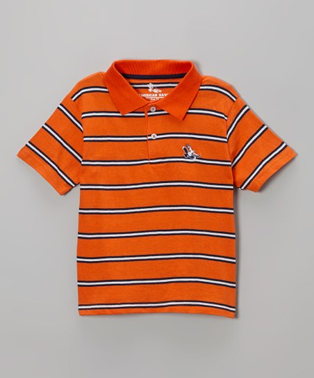 Orange Stripe Polo - Toddler & Boys