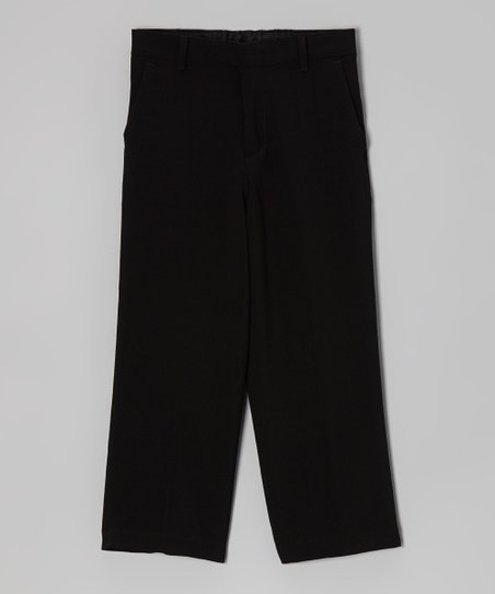 Black Bi-Stretch Pants - Boys