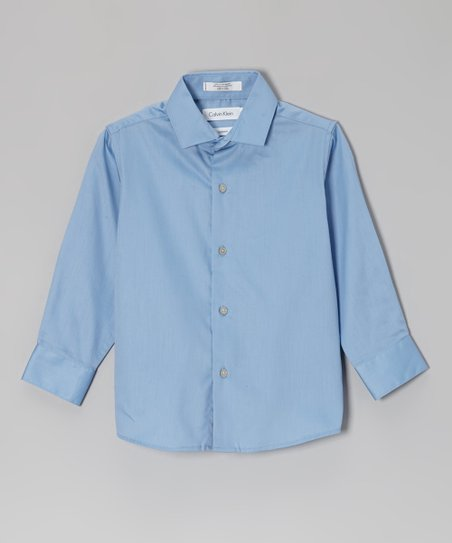 Medium Blue Button-Up - Boys