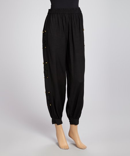 Black Harem Pants - Women