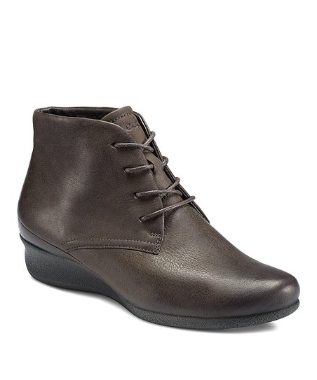 Coffee Abelone Wedge Boot