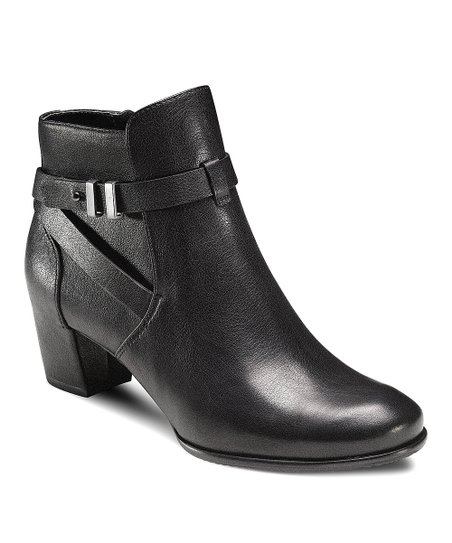 Black Palin Buckle Wrap Ankle Boot