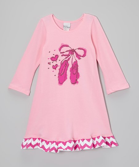 Pink Ballet Slippers Swing Dress - Infant, Toddler & Girls