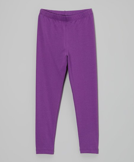 Plum Leggings - Infant, Toddler & Girls