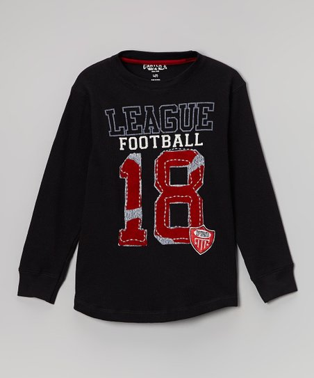 Black & Red League Football Tee - Boys