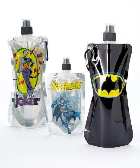 Batman Emblem Foldable Bottle Set