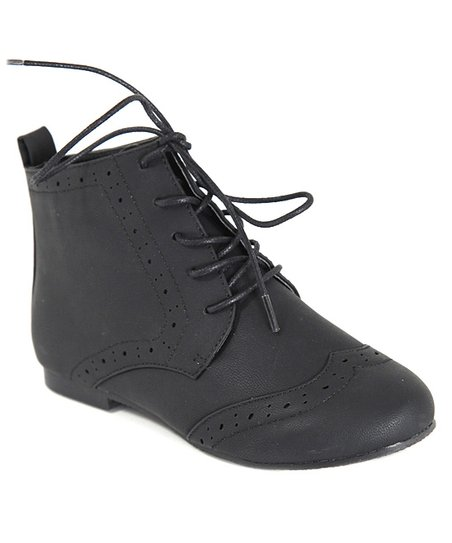 Black Emma Oxford Ankle Boot