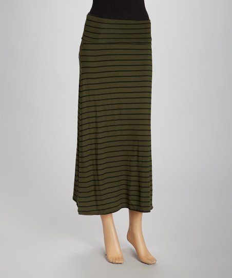 Olive Earth Maxi Skirt