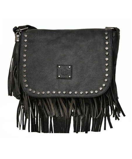 Black Wildfire Crossbody Messenger Bag