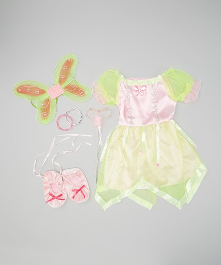 Pink & Green Fairy Princess Dress-Up Set