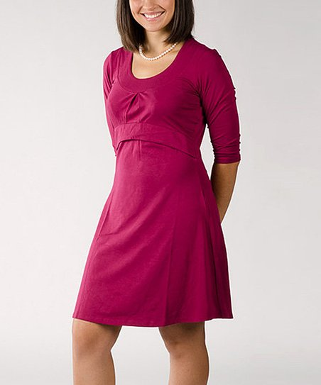 Plum Jolie Nursing Scoop Neck Dress