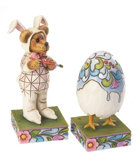 Easter Bear & Egg Figurine Set