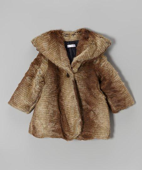 Brown Faux Fur Coat – Infant, Toddler & Girls