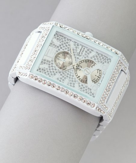 White Rhinestone Watch