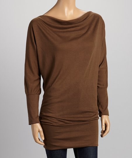 Brown Dolman Tunic