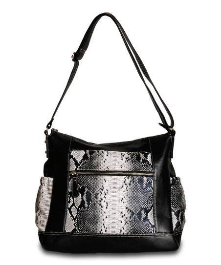Black Python Jacey Diaper Bag