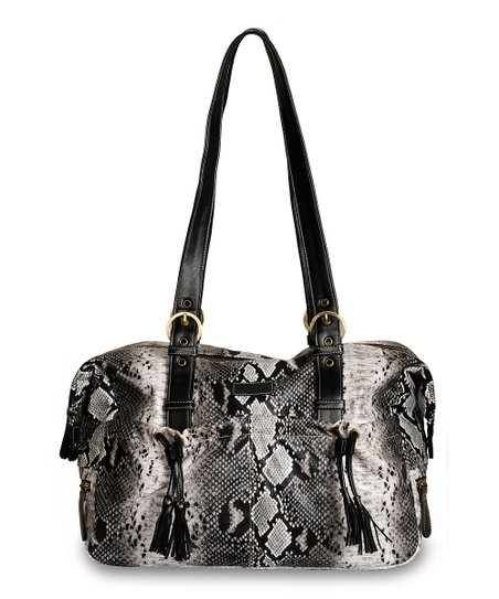 Black Python Shanti Diaper Bag