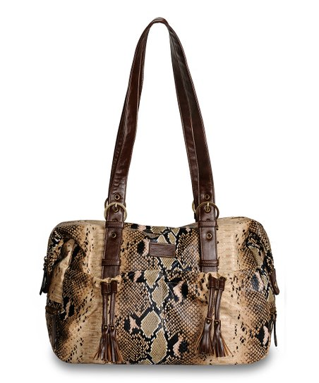 Brown Python Shanti Diaper Bag