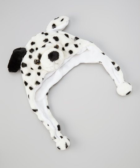 Black & White Dog Earflap Beanie