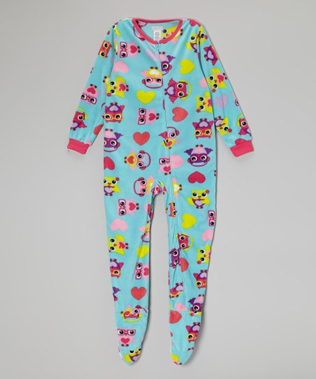 Blue Owl Fleece Footie - Girls