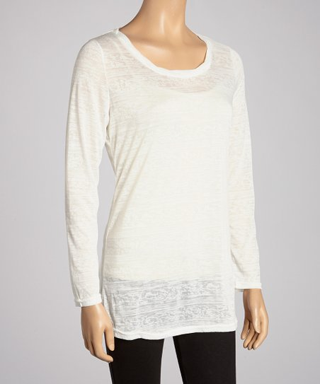 Ivory Blur Stripe Top