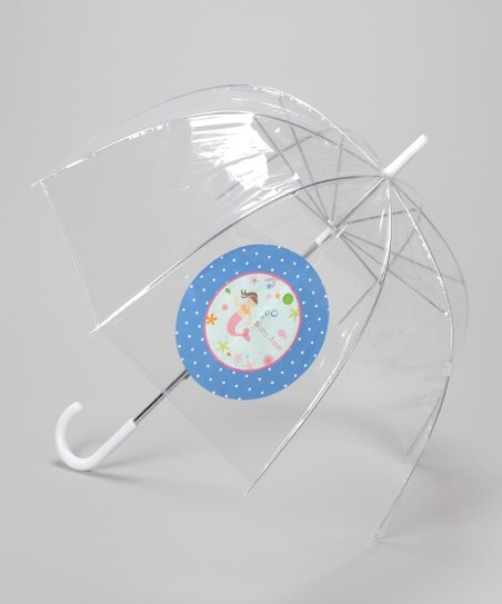 Clear Personalized Mermaid Umbrella