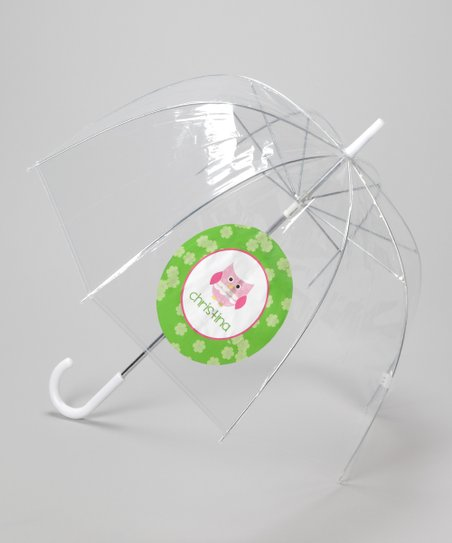 Clear Personalized Patchwork Owl Umbrella