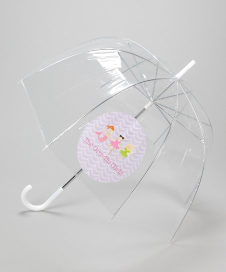 Clear Personalized Princess Lineup Umbrella