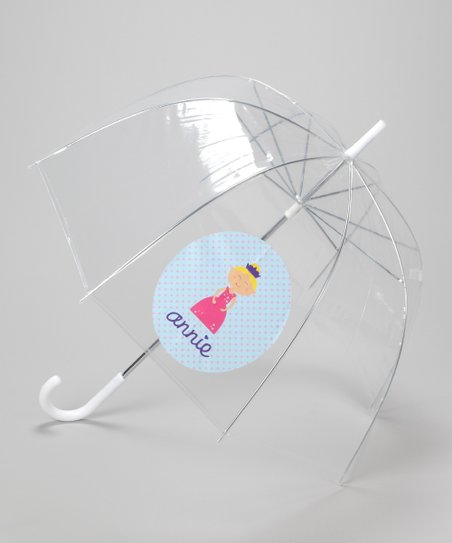 Clear Personalized Princess Umbrella