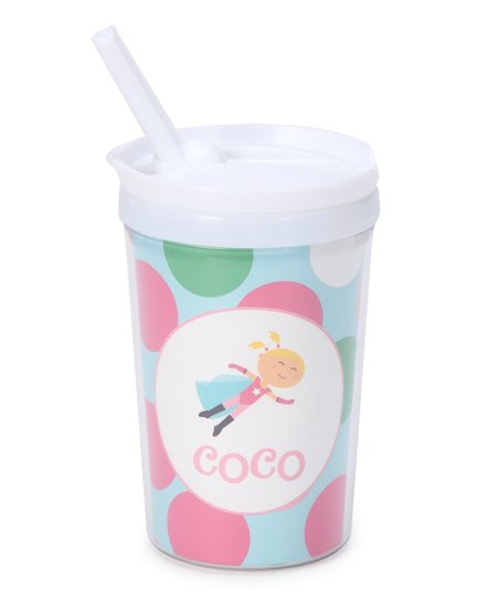 Blonde Super Girl Personalized Toddler Cup